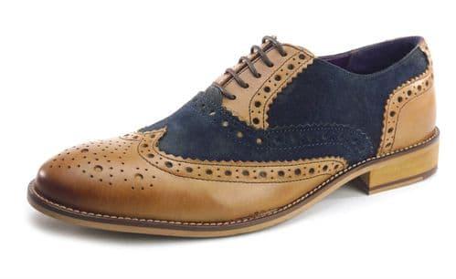 Frank James Redford 1649 Tan / Navy Shoes